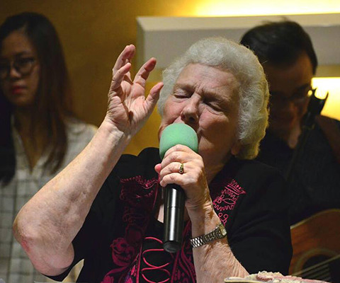 Margaret Seaword during Good Friday Sermon
