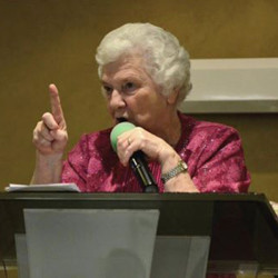 Margaret Seaword during Easter Sunday Sermon