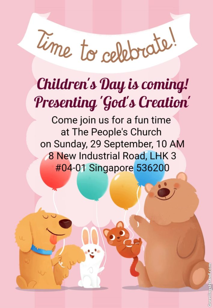 the peoples church children's day
