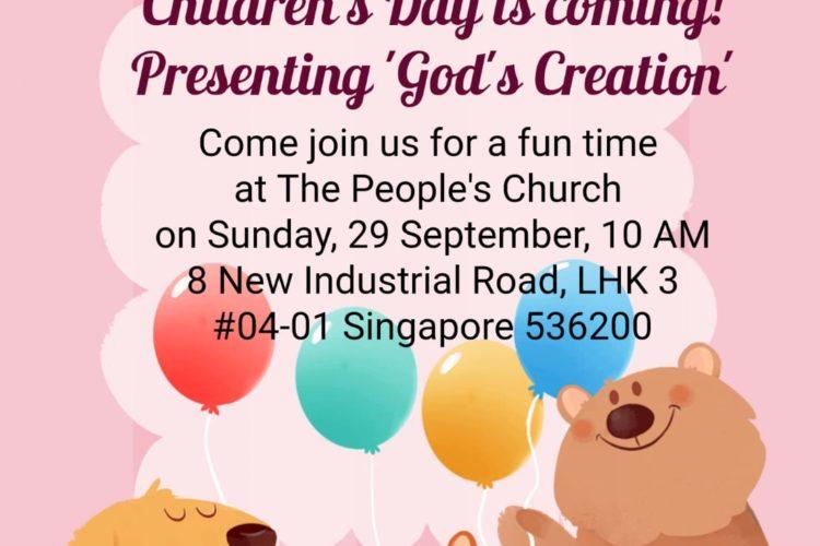 "Children's Day Celebration 2019: ""God's Creation"""